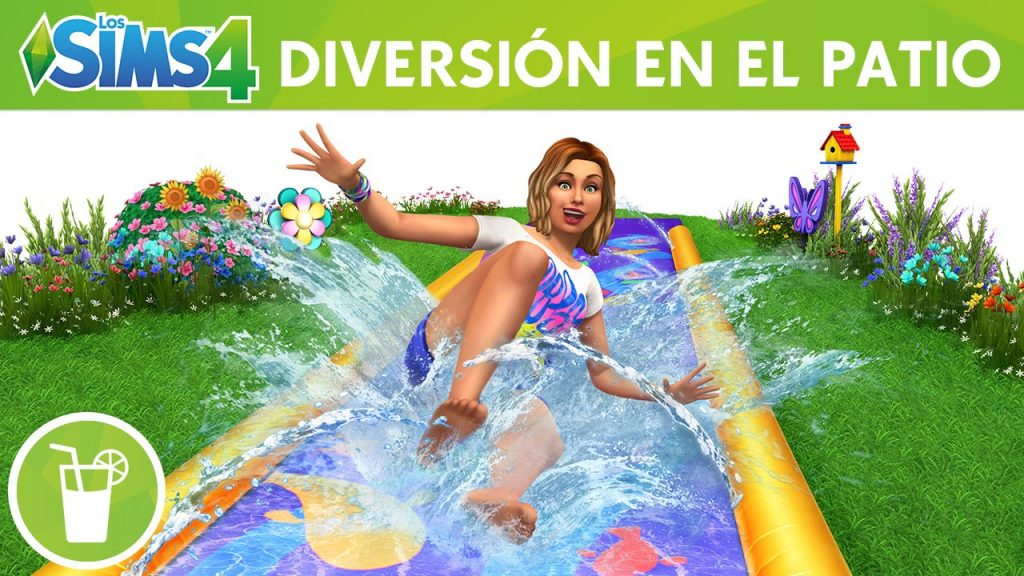 los sims 4 diversion en el patio